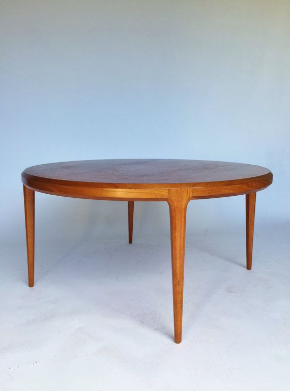 Vintage Johannes Andersen Round Teak Coffee Table Mid by ...