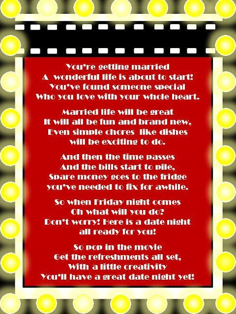 Date Night The Movie Quotes: For Bridal Shower, Date Night Movie Gift Basket, Include