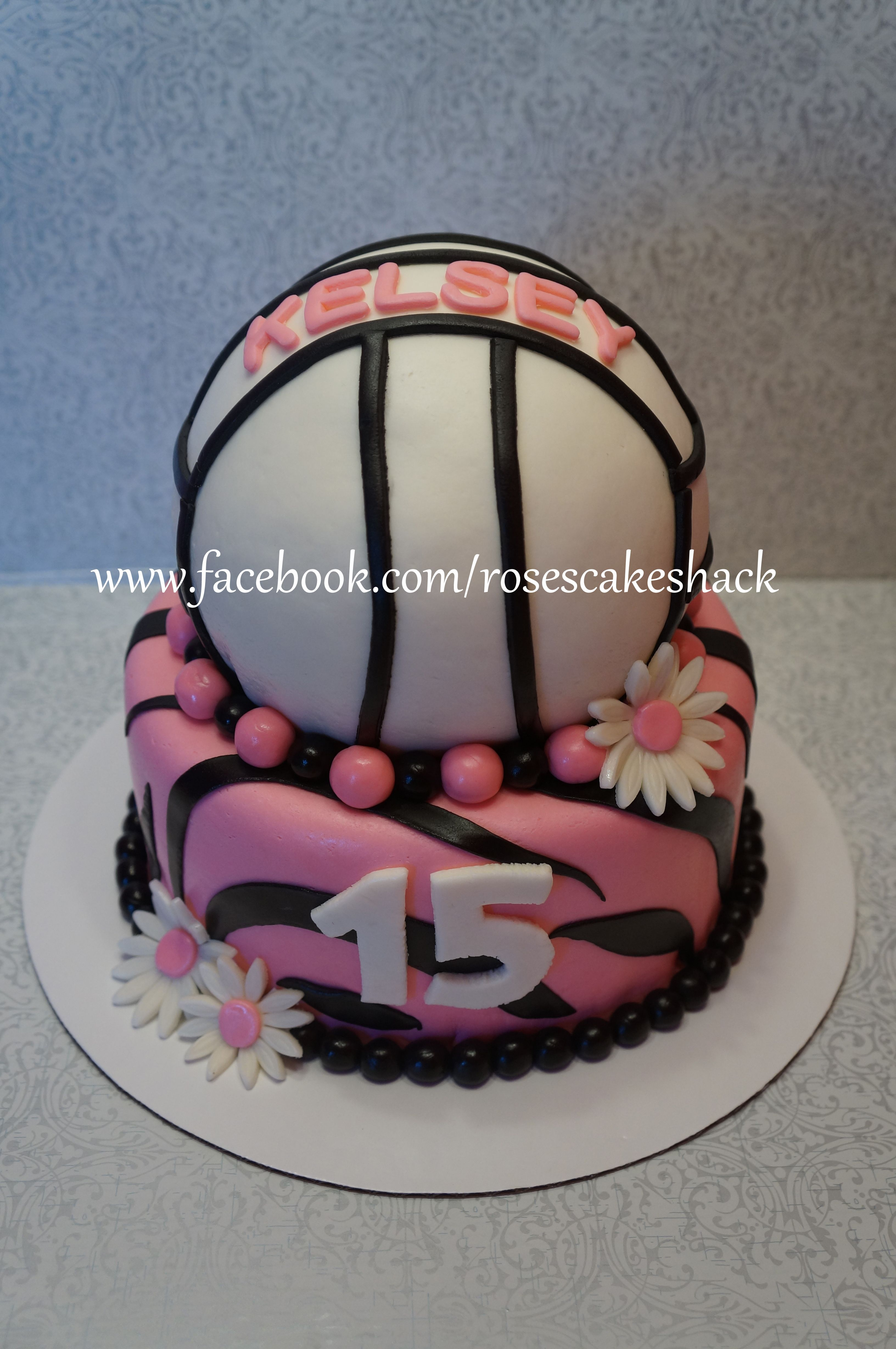 Volleyball Cake Cakes And Cupcakes Pinterest Volleyball Cakes