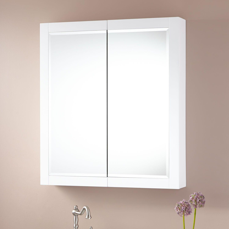 32 X 27 1 4 Fairmount Stainless Steel Medicine Cabinet White