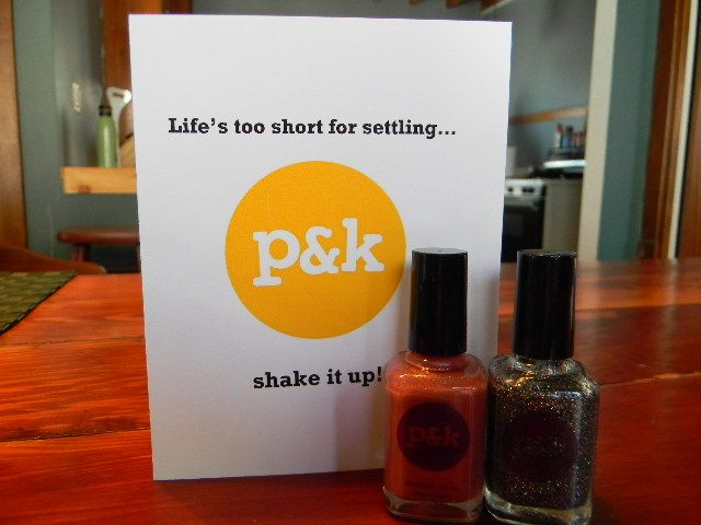 Could it be? KC You There is hosting its first give-away – cause frankly, who doesn't love free stuff and some #phancyphalanges?      Pams & Kin nail polish has decided to treat our readers and shake it up with a couple of their most popular colors: 'Toy Soldier' and 'Better Than Revenge.'    *giveaway ends on 4/26/12