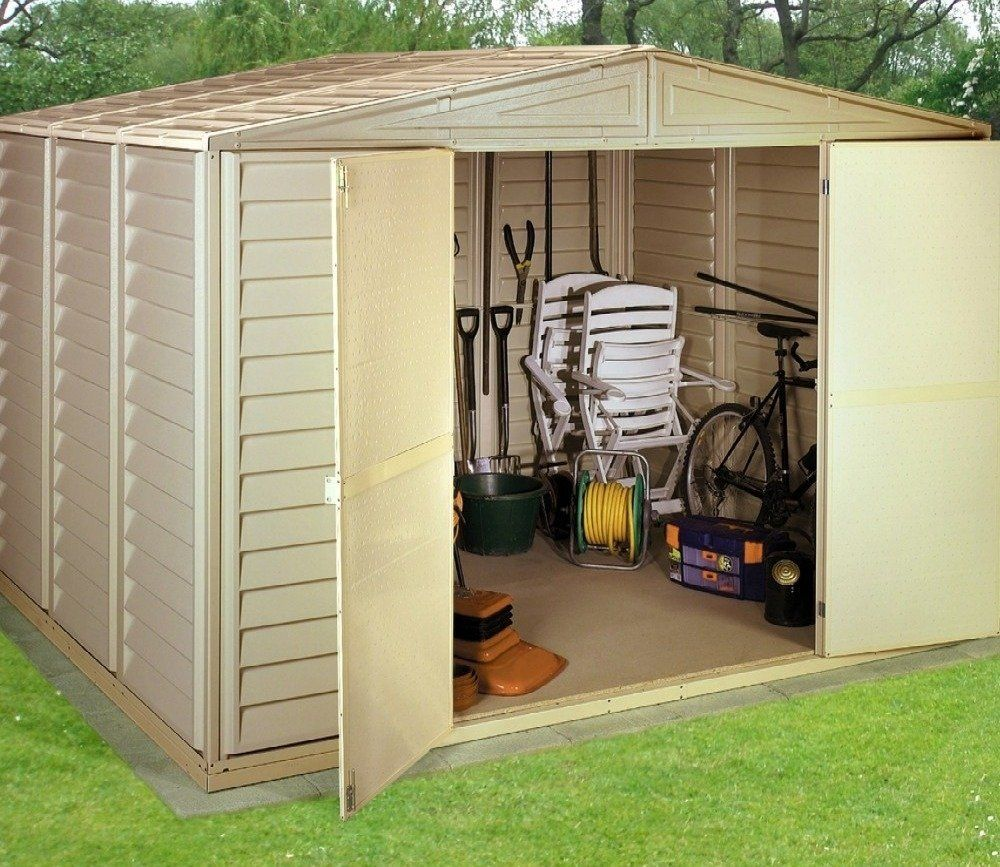 Beautiful DuraMax Woodbridge 10ft X 8ft PVC Shed