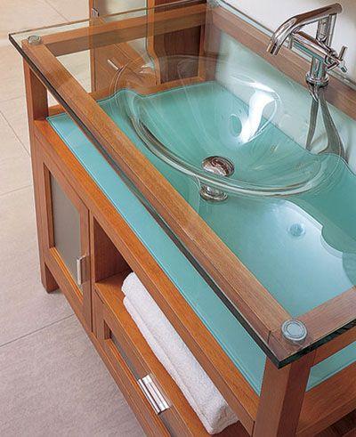 Bathroom Glass : Vanity Sink Basin By LineAqua