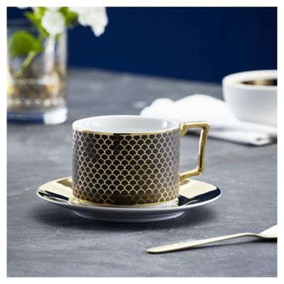 Buy Fox Ivy Soho Black Coffee Cup Saucer From Our Fox
