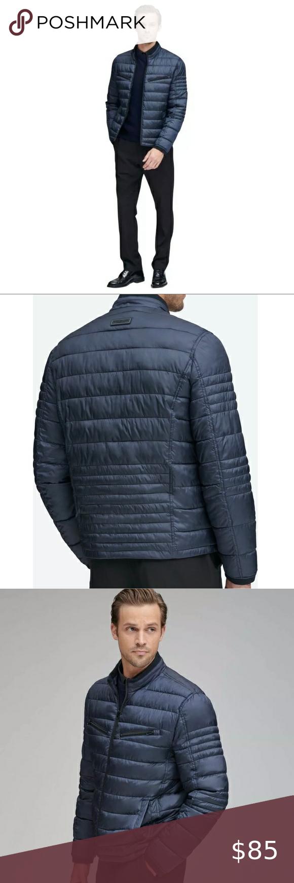 Men S Nwt Marc Ny Andrew Marc Jacket Coat Mens Puffer Jacket Faux Fur Hooded Jacket Black Puffy Coat [ 1740 x 580 Pixel ]