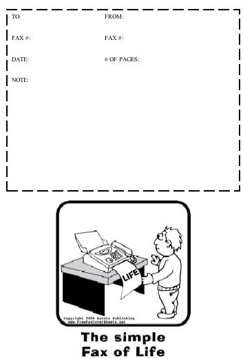 This Printable Fax Cover Sheet Has A Cute Cartoon And Play On Words The Simple