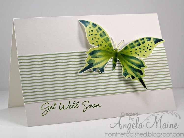 CAS177 Get Well Butterfly by Arizona Maine - Cards and Paper Crafts at Splitcoaststampers