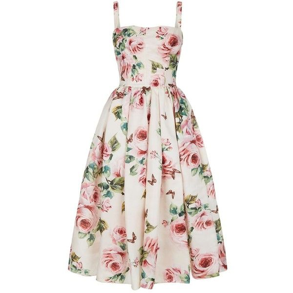 e455f3526e8 Dolce   Gabbana Silk Floral Dress ( 3