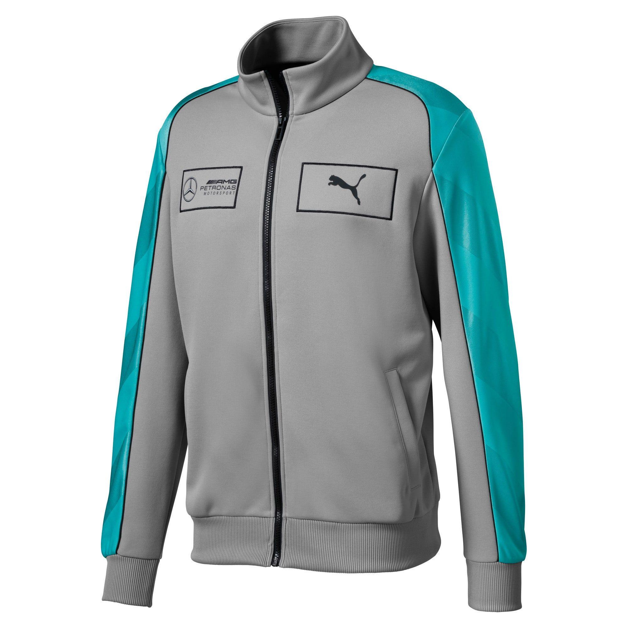 PUMA Mercedes Amg Petronas Men's Track Jacket in Silver size