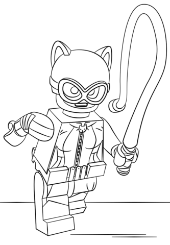 Lego Catwoman Coloring Page From The LEGO Batman Movie Category Select 25565 Printable Crafts
