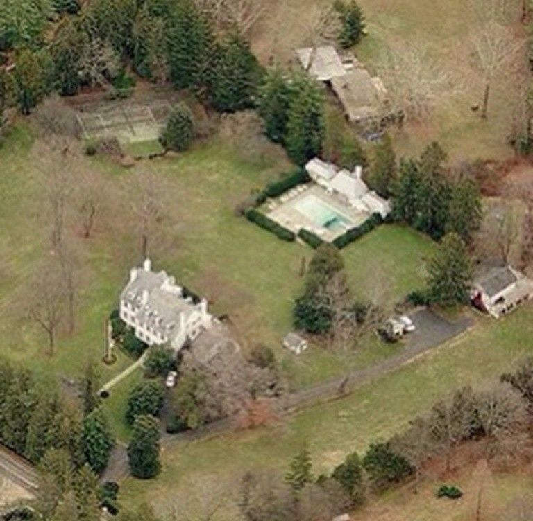 Aerial View Of Hickory Hill Home Of Rfk And Ethel Kennedy