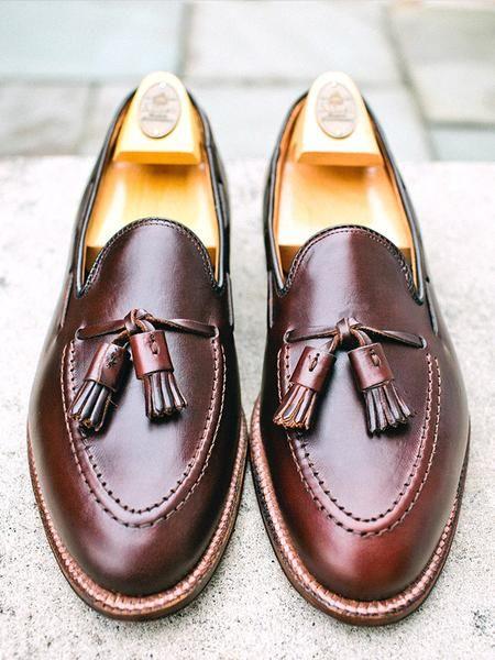 Alden Dark Brown Chromexcel Tassel Loafer is part of Shoes - Alden tassel moccasin in dark brown Chromexcel  Aberdeen Last with the Flex Welt Available in D width  Style 36602