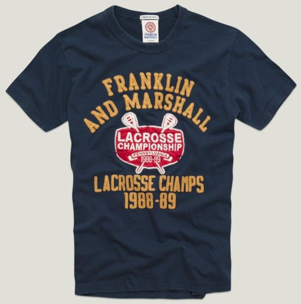 100% cotton t-shirt for lacrosse lovers #franklinandmarshall