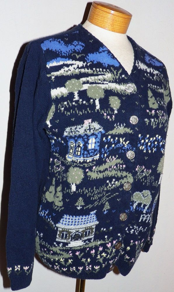 Northern Reflections Parkhurst Made in Canada Cottage Print Cardigan Sweater  S  NorthernReflections  Cardigan a28c3e2b0