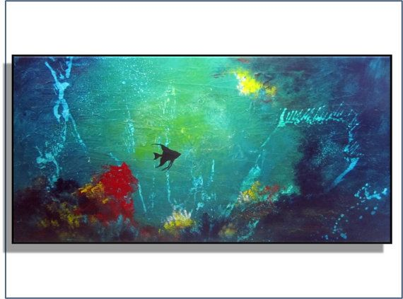 20 OFF SUPER SALE Abstract Ocean Art. by RenaeSchoeffelArt on Etsy