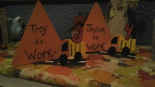 Made these for a friends son and nephews dump truck birthday  party