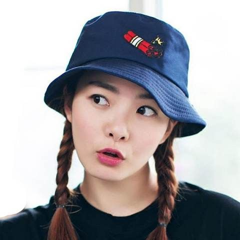 Explosives embroidered hat for women white bucket hat  79f286c62