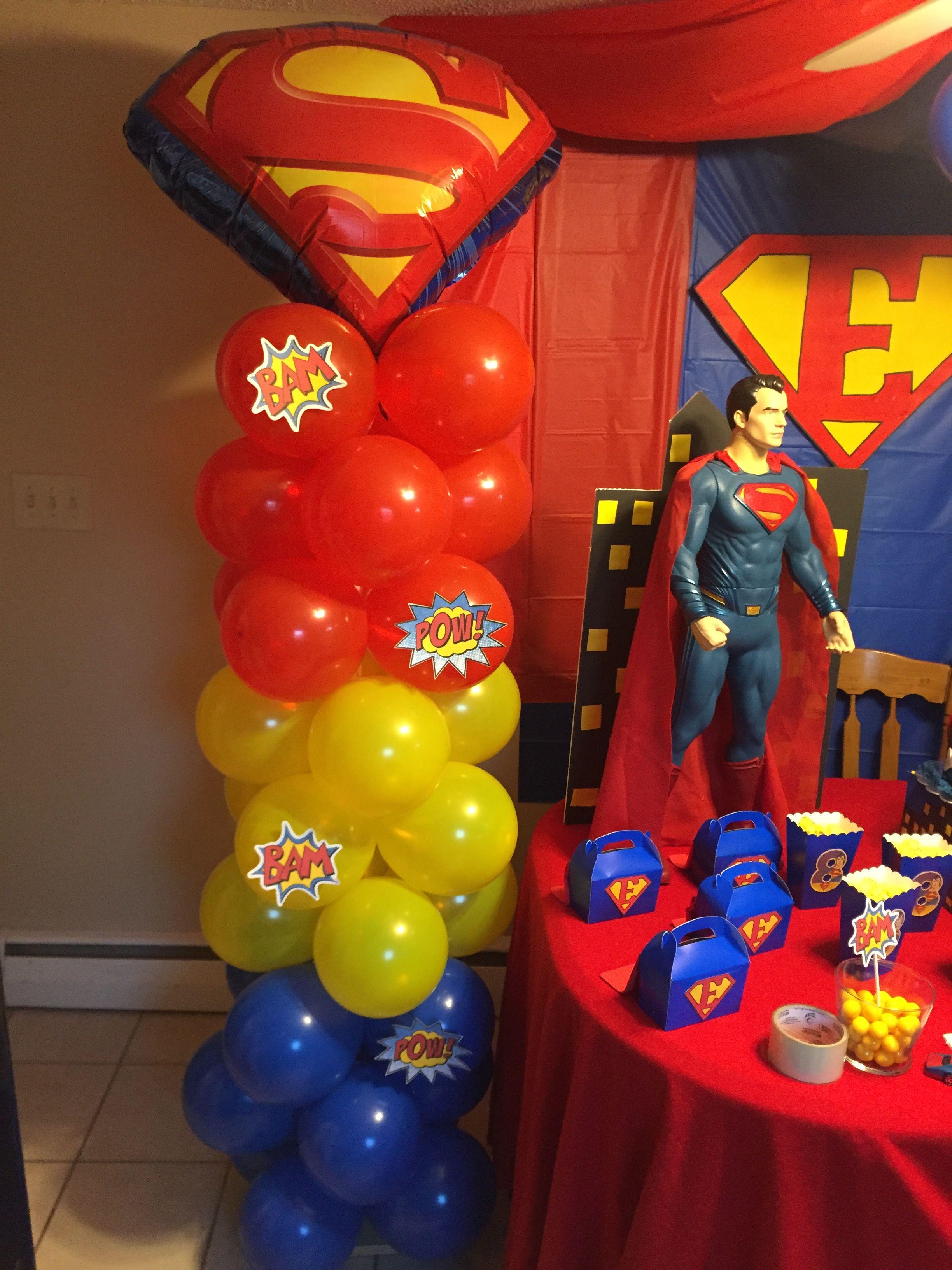 Superman Balloon Decor Party Decorations Birthday Halloween