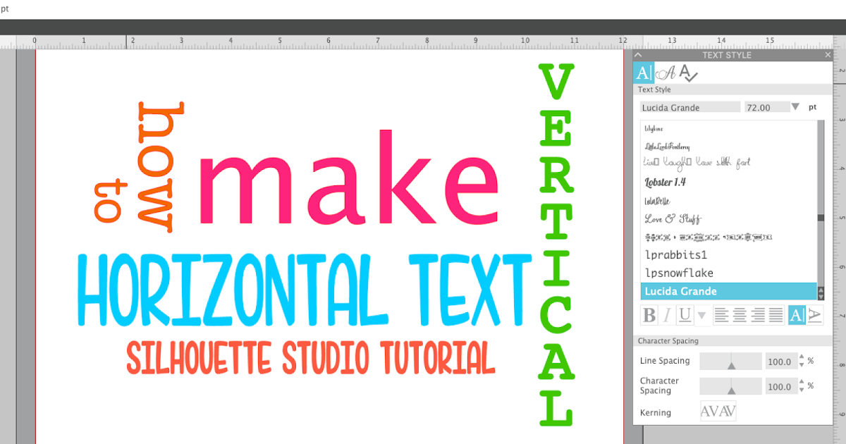 Typing Vertical Text in Silhouette Studio (The So Easy It