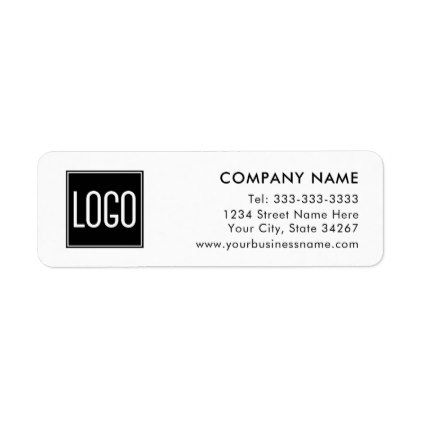 Business Company Return Address  Your Logo Here Label  Return
