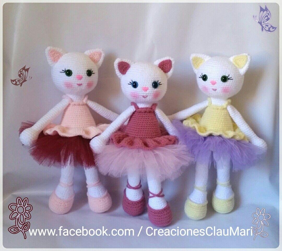 Gatitas crochet amigurumi | Amigurumi | Pinterest | Gato, Muñecos de ...