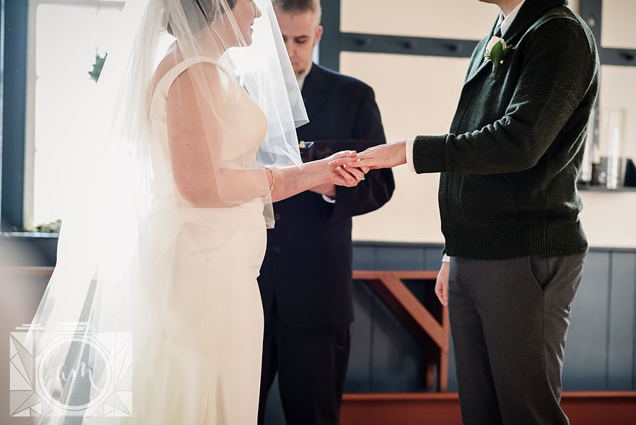 Wedding ceremony at Shaker Village in Lexington, KY by Amanda May Photos