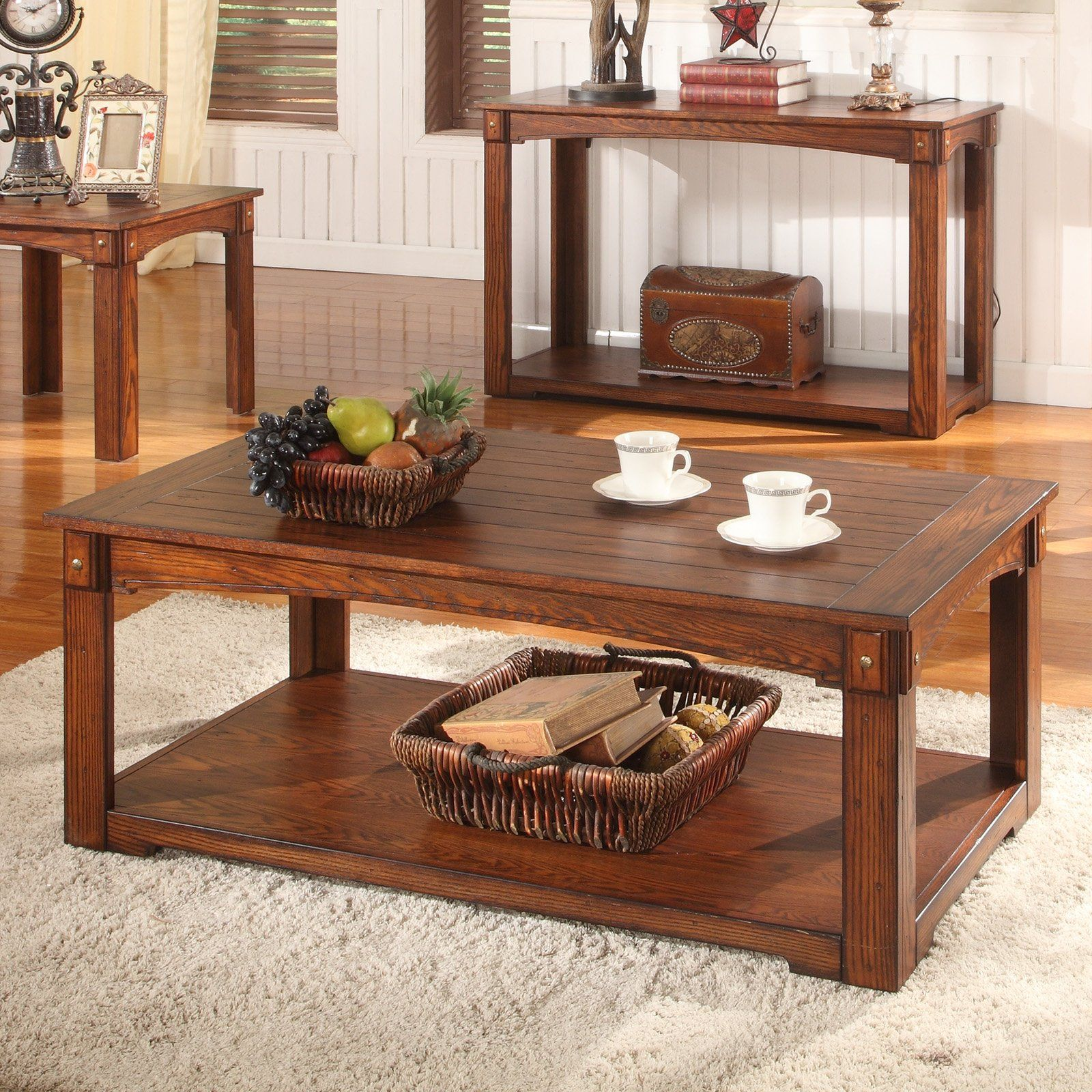 Parker House Aspen Rectangle Antique Vintage Oak Wood Coffee Table With Casters 206 01 Hayneedle