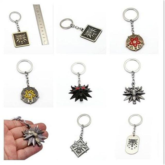 6c9d72f42d Mixed The Witcher 3 Keychain Wolf Head Metal Pendant Medallion Wild Key  Chain Ring The Wild Hunt Figure Men Jewelry Chaveiro HC Review