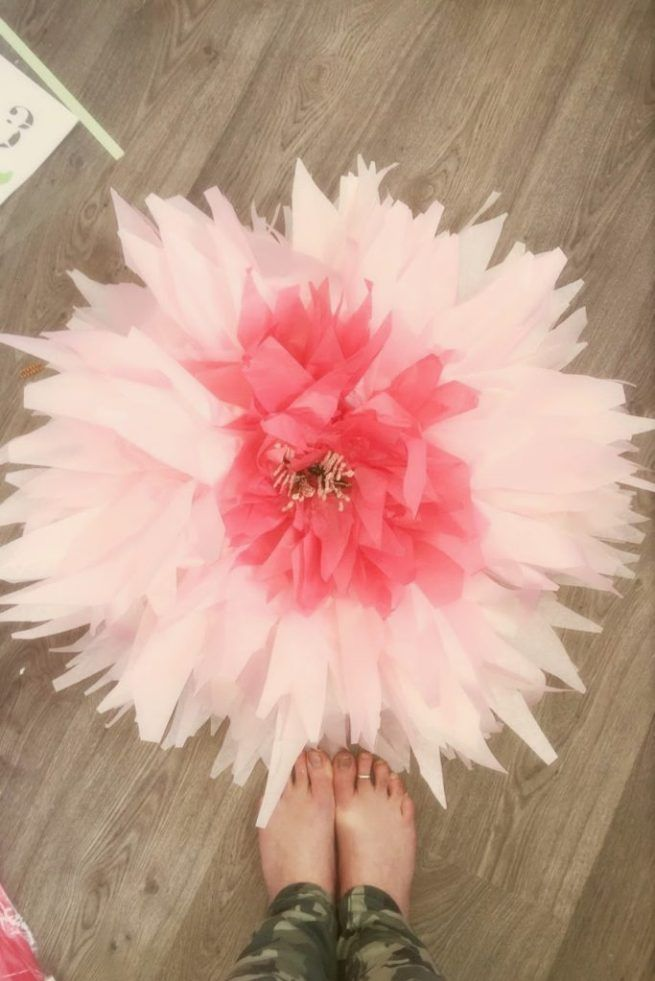 How To Make Giant Bendable Paper Flowers Stems Paper Flowers