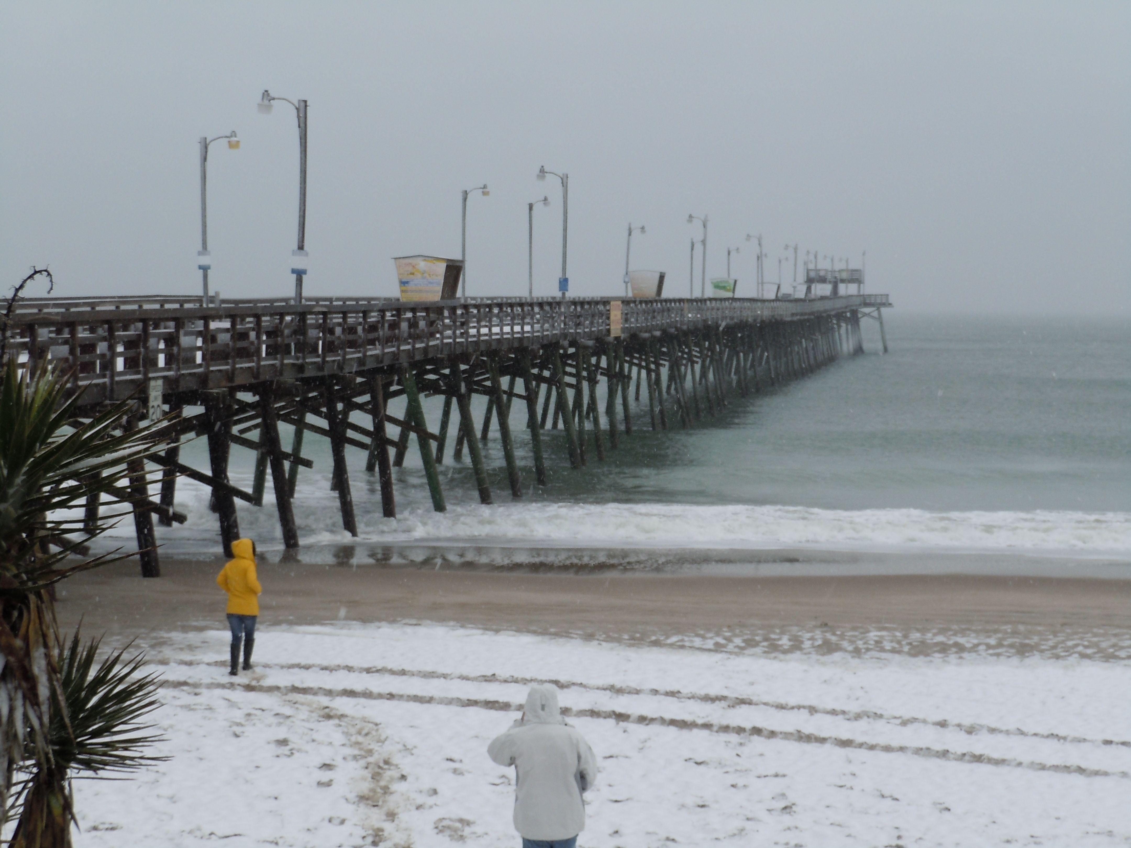Snow at the Beach Emerald Isle, NC | Lovin' The Beach | Nc