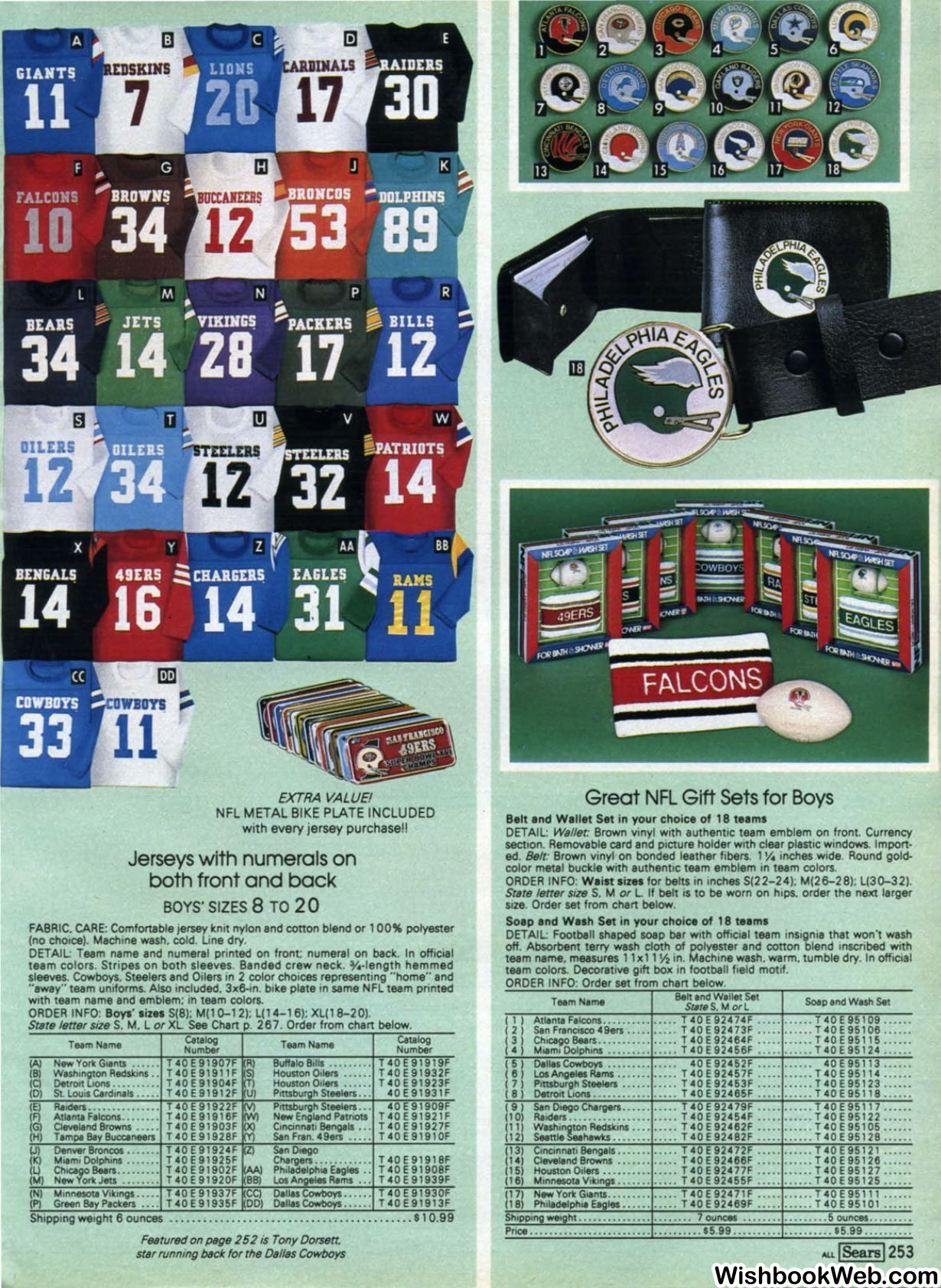 Sears Catalog NFL jersey 1982 | T-Shirt Ads | Vikings