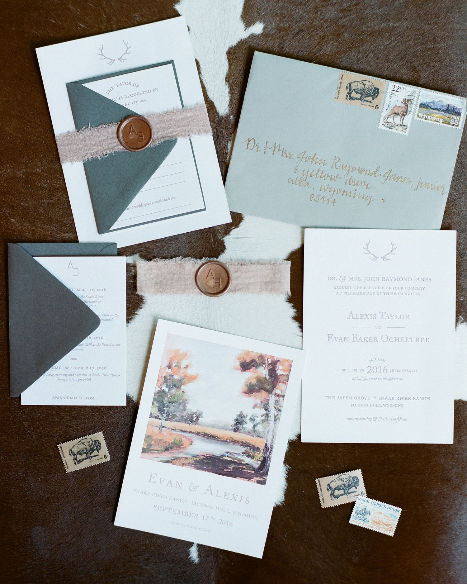 One Of The Bridesmaids Created This Couple S Invites Which Was