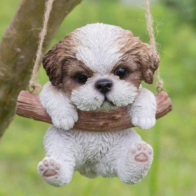 Hi Line Gift Ltd Sitting Sleepy Bulldog Puppy Statue Shihtzu