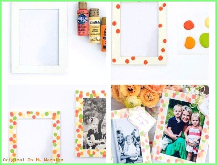 Cadeau Fete des Meres 2019 – exemple de cadeau fête des mères maternelle à faire soi meme, cadre photo bla