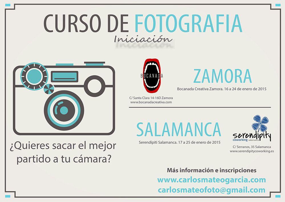 CURSO DE FOTOGRAFÍA (iniciación)  ¿Quieres sacar el mejor partido a tu cámara?  Si eres aficionado a la fotografía, si estas pensando en aprender a manejar tu cámara, o si te han regalado una recientemente, estos son los cursos que buscas.   Próximos cursos en Bocanada Creativa en Zamora y Serendipity coworking Salamanca  http://www.carlosmateogarcia.com/#!cursos-de-fotografa/c13pg