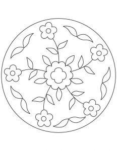 Eğlence Mandala Boyama Kitabı 6 Mandala Ilkokul Mandala
