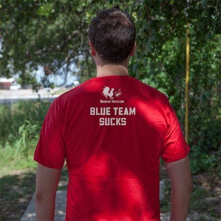RvB Blood Gulch Red Team Custom Shirt   Rooster Teeth Store   Red vs