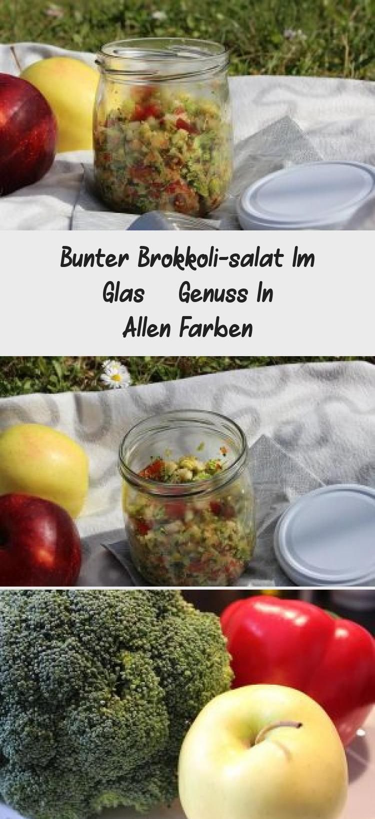 Bunter Brokkoli Salat Im Glas Genuss In Allen Farben Healthy