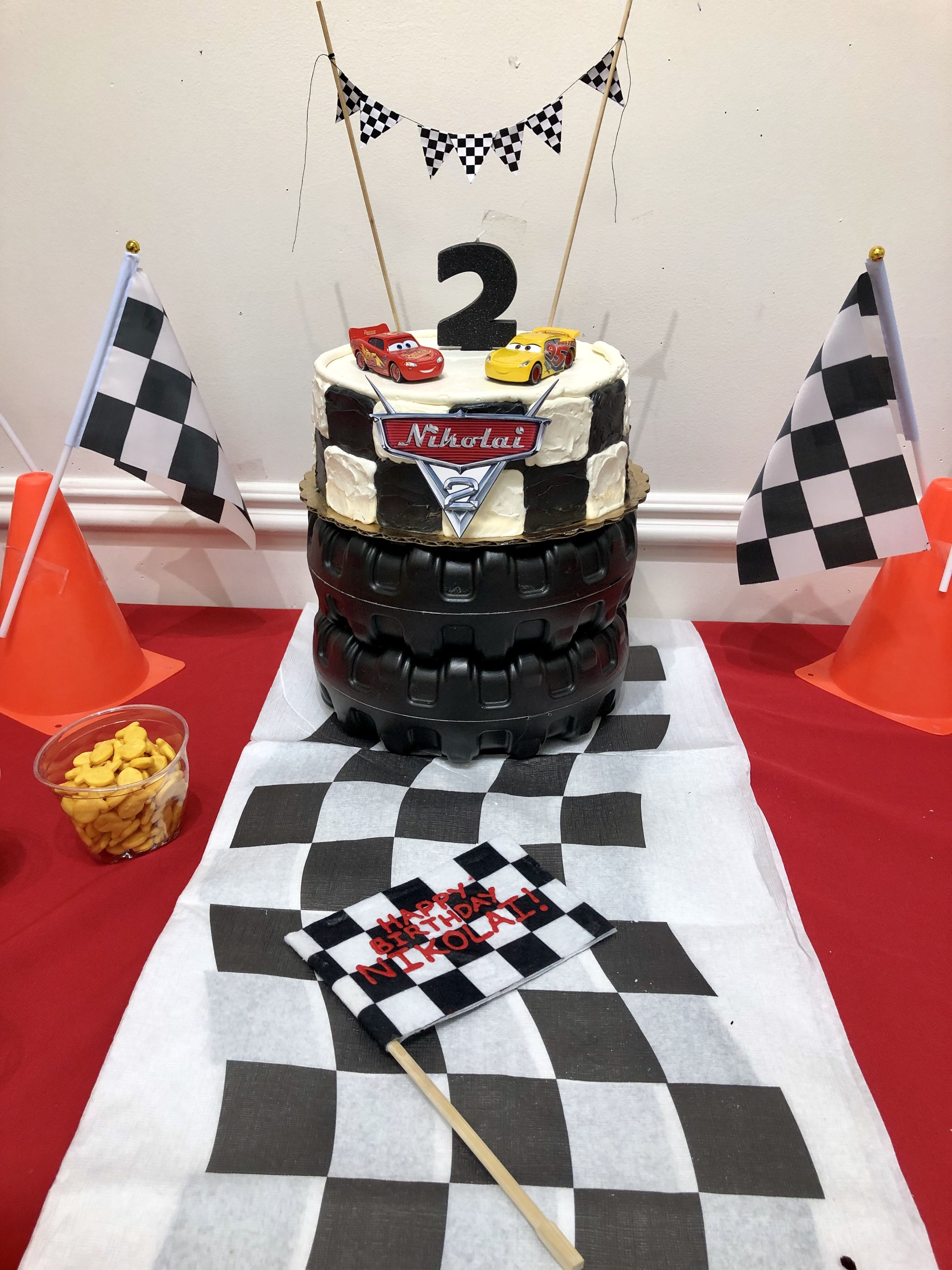 Whole Foods does a great job on custom cakes! Printed Cars