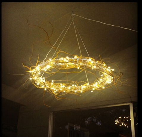 Ikea Hack That Is Brilliant. Curly Willow Added To Glansa Pendant Lamp.  Another Idea