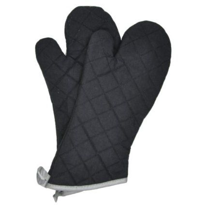 Flame Retardant Quilted Oven Mitts Commercial Grade (2-Pack) $9.95