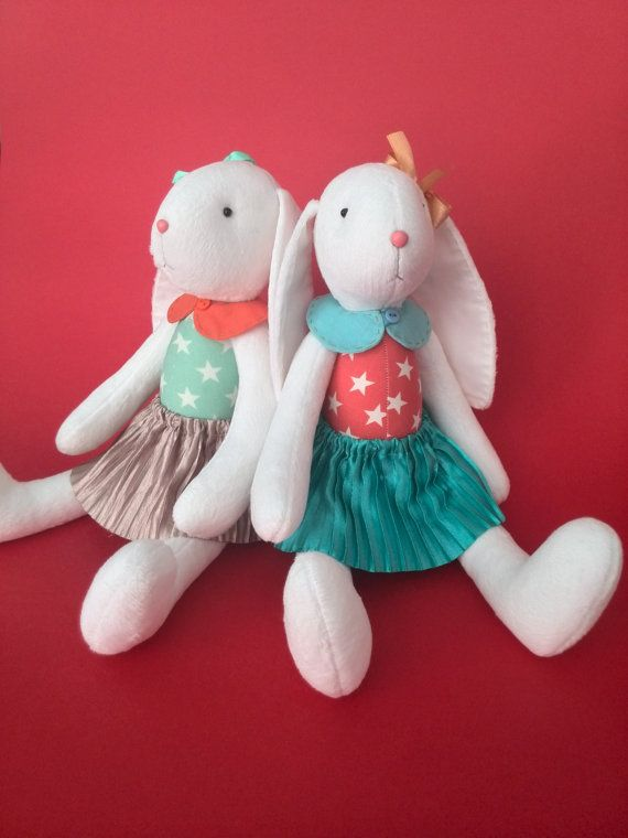 Personalized stuffed toy bunny twins baby gift by handmadetoystore personalized stuffed toy bunny twins baby gift by handmadetoystore negle Choice Image