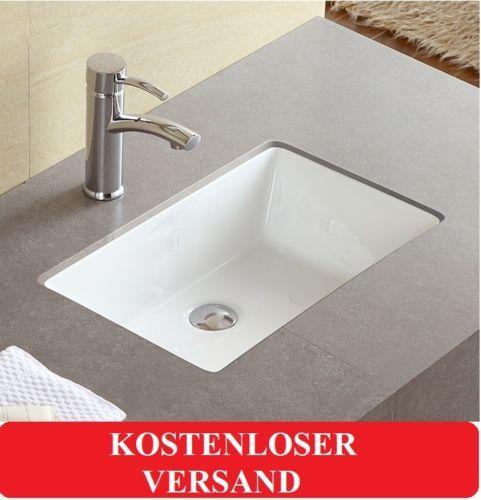 Details zu UNTERBAU WASCHBECKEN WASCHSCHALE BECKEN WASCHTISCH LILY - Waschtische Für Badezimmer
