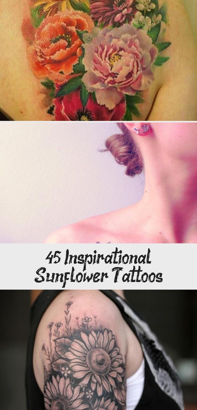 Photo of sunflower tattoo – 45 Inspirational Sunflower Tattoos #Geometricsunflowertattoos…