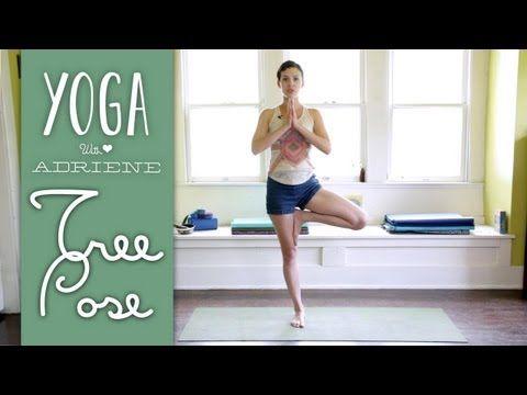 tree pose yoga with adriene  yoga with adriene yoga