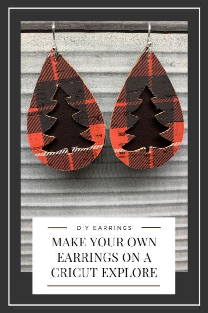 Cork Earrings DIY | Cricut Earrings | Faux Leather Earrings