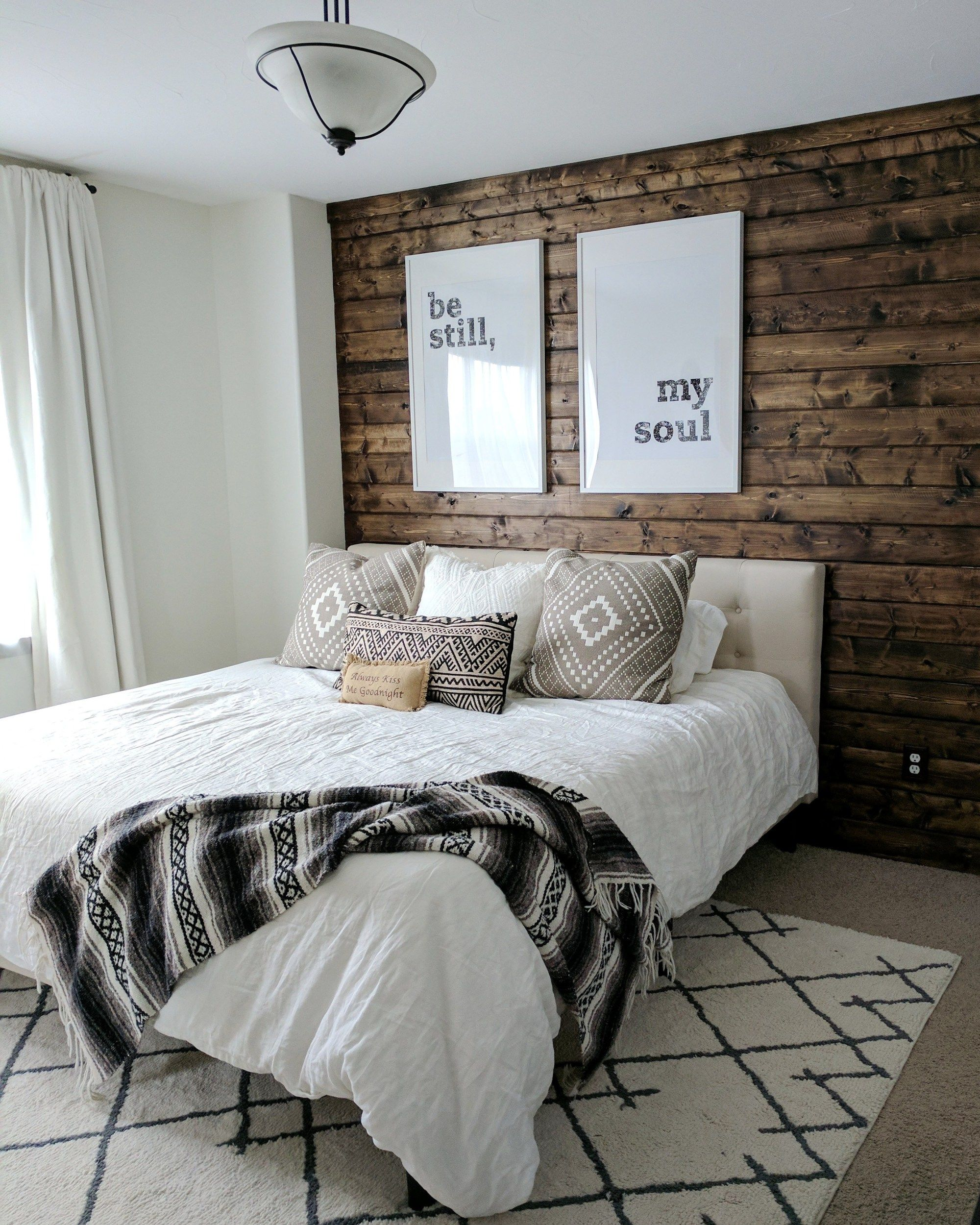 How To Build A Wood Plank Accent Wall Easy Diy Tutorial Yellow