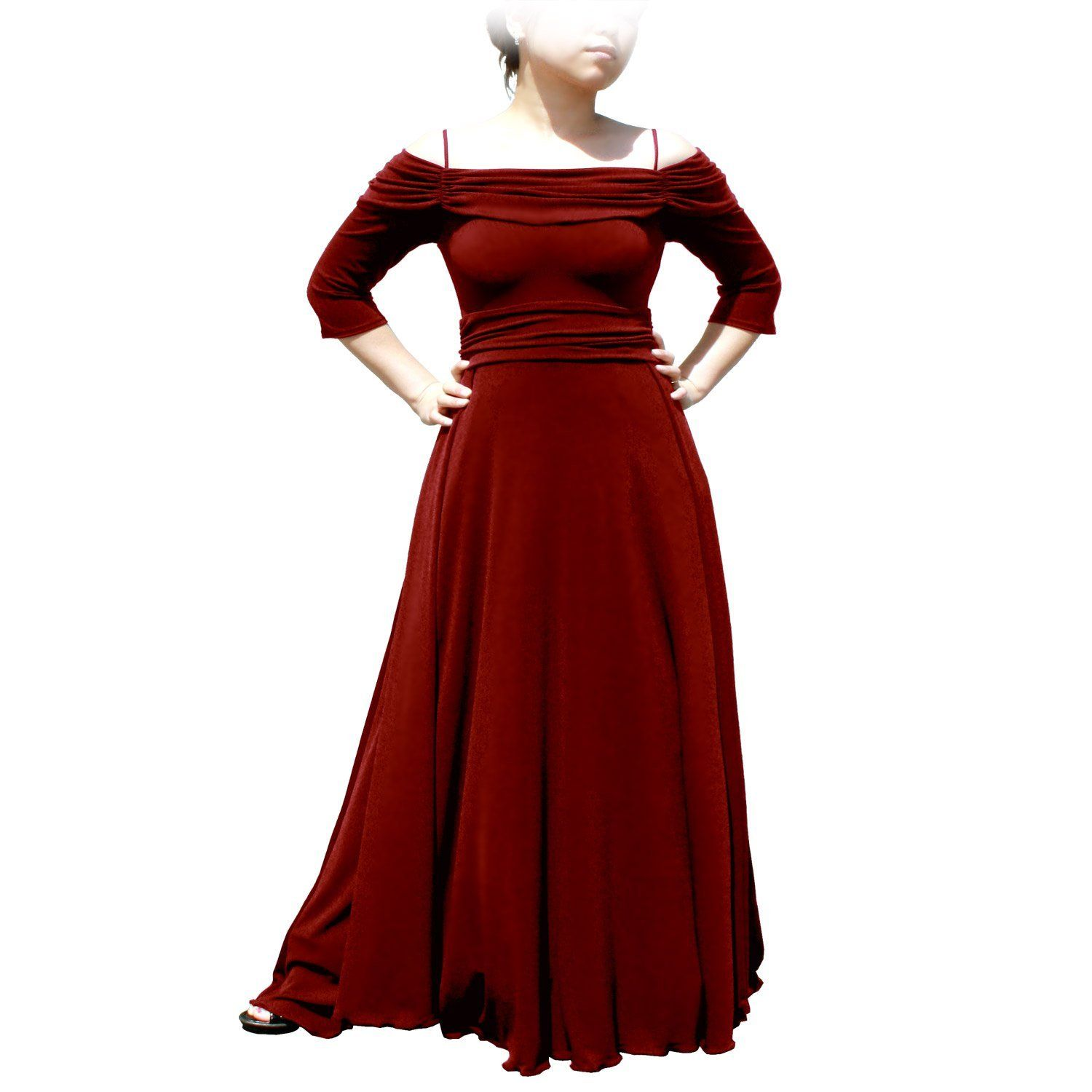 Evanese womenus plus size dress with sleeves and side flare