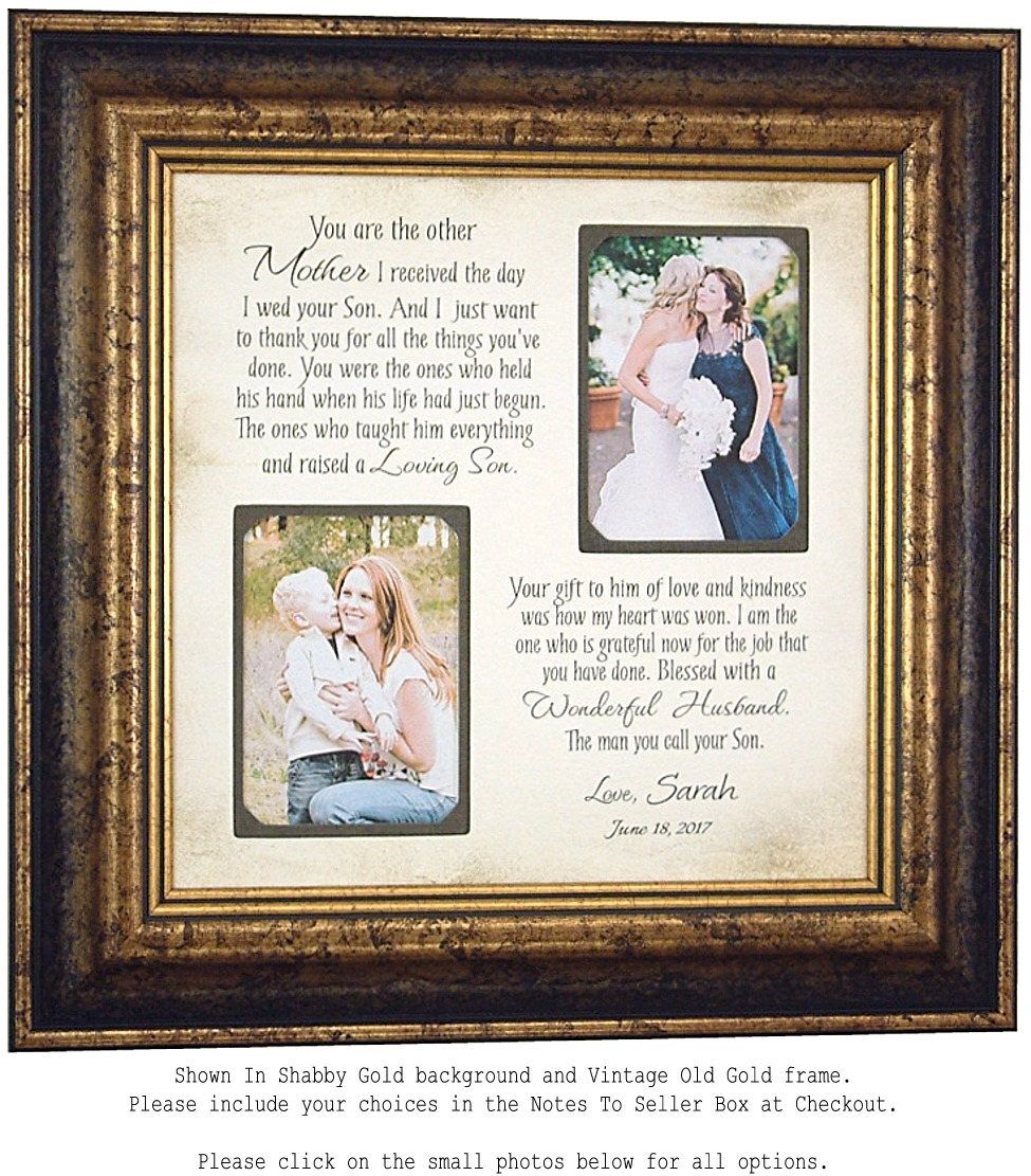 Mother In Law Gift, Mother of the Groom Gift, Mother of Groom Photo ...