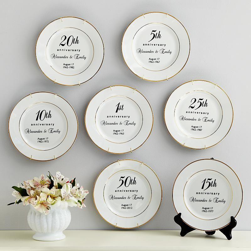 Anniversary Plate 50 wedding anniversary gifts, 40th